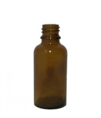 Sticla bruna de sticla 25 ml, fara capac inclus