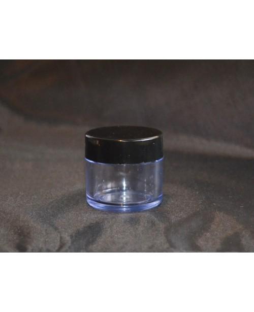 Cutie volum 20 ml, cu capac negru