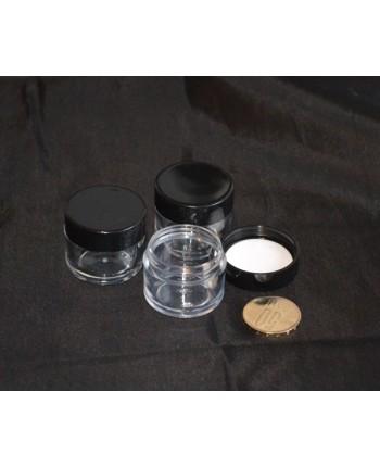Cutie volum 10 ml cu capac negru (tip 2)