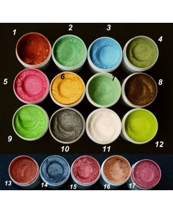 Pigmenti cosmetici minerali perlati nr. 1-17