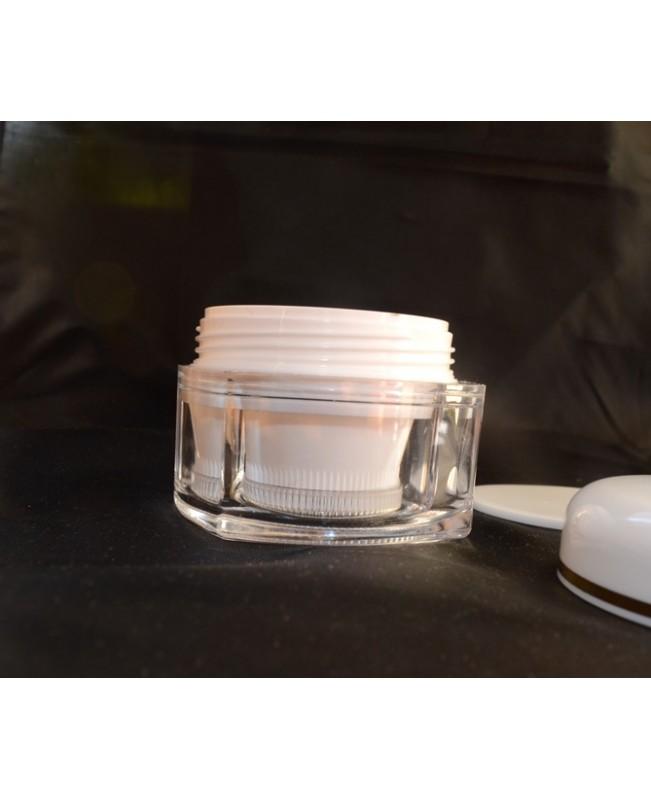 Doza cuadrangulara perete dublu alba 50 ml