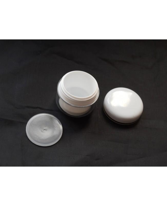Doza cosmetica perete dublu alba 30 ml