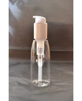 Flacon cosmetic transparent cu pompita argintie 10...