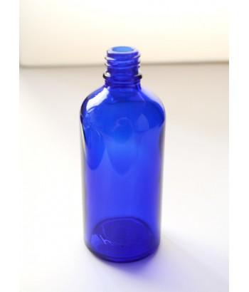Sticla albastra de sticla 100 ml, fara capac