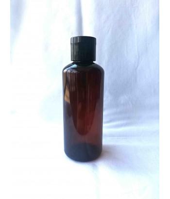 Flacon brun 100 ml cu flip-top negru