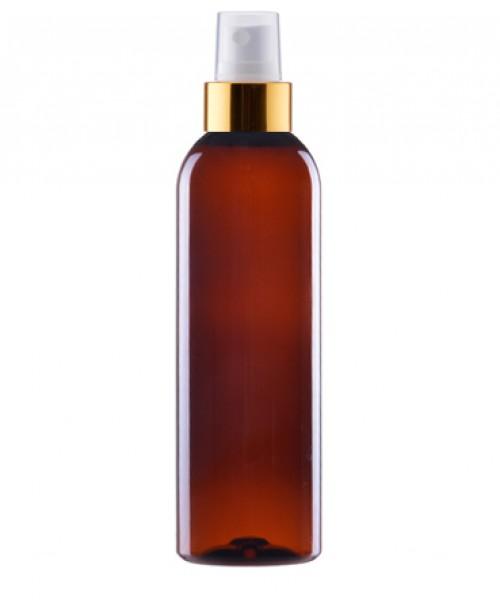 Flacon brun 200 ml cu spray auriu