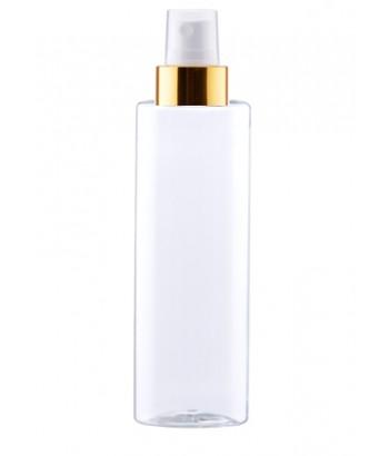 Flacon transparent 100 ml cu spray auriu