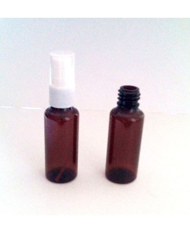 Recipient 30 ml/50ml plastic brun cu pulverizator ...