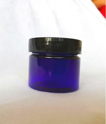 Cutie albastra cu capac negru 50 ml