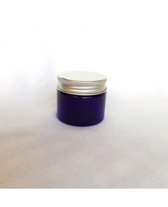 Cutie albastra cu capac de aluminiu 50 ml