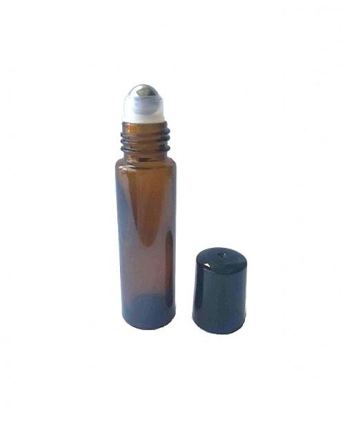 Recipient sticla bruna tub roll-on 10 ml