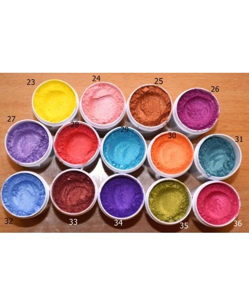 Pigmenti cosmetici minerali perlati nr. 23-36