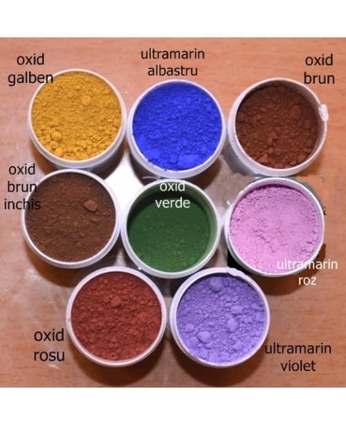 Pigmenti cosmetici minerali mati