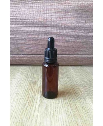 Flacon brun 30 ml plastic cu pipeta de sticla