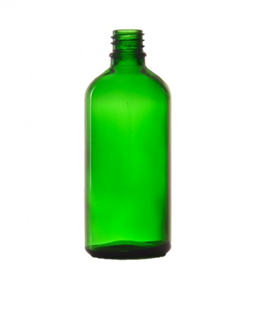 Sticla verde de sticla 100 ml, fara capac
