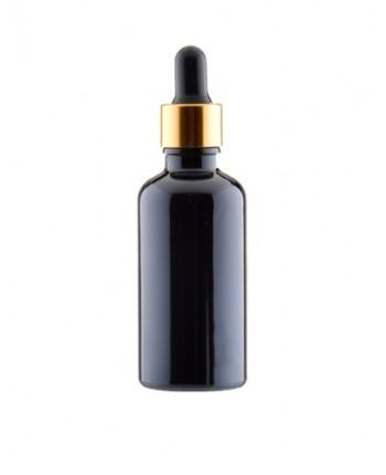 Sticla neagra de sticla 30 ml, aspect porțelan, fara capac