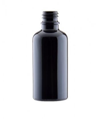 Sticla neagra de sticla 50 ml, aspect porțelan, f...