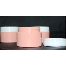 Cutie roz-piersica perete dublu 50 ml cu capac alb sau roz