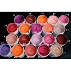 Pigmenti cosmetici nr. 37- 46 - paleta culori roz-rosu-portocaliu