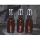 Recipient 30 ml/50ml plastic brun cu pulverizator negru (spray) inclus