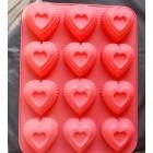 Forma silicon inima 12 cavitati