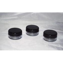 Cutie volum 10 ml, cu capac negru
