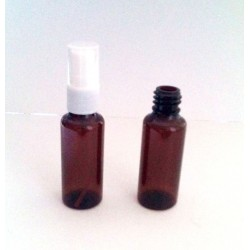 Recipient 30 ml/50ml plastic brun cu pulverizator alb (spray) inclus