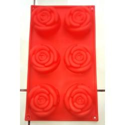 Forma silicon trandafir 6 cavităţi volum 100 ml